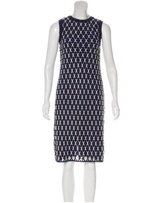 Tory Burch - Blue Sleeveless Midi Dress Navy - Lyst