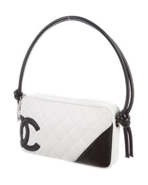 129c678a761c ... Chanel - Metallic Ligne Cambon Pochette White - Lyst ...