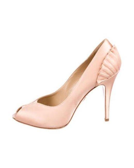 b20093ddb64 Charlotte Olympia - Pink Pavletta Satin Pumps - Lyst ...