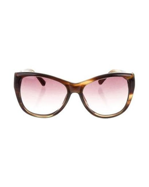 2e9e70b5168d Linda Farrow - Brown Cat 2 Tinted Sunglasses - Lyst ...