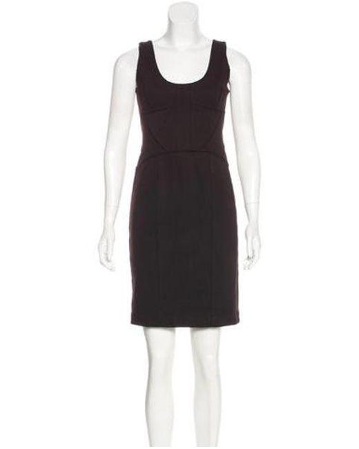 Robert Rodriguez - Brown Sleeveless Sheath Dress - Lyst