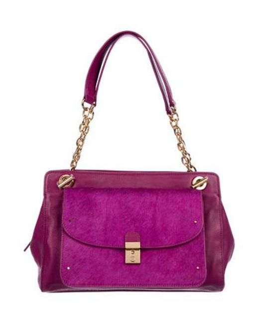 5f500cfe20b8 Tory Burch - Metallic Priscilla Shoulder Bag Magenta - Lyst ...