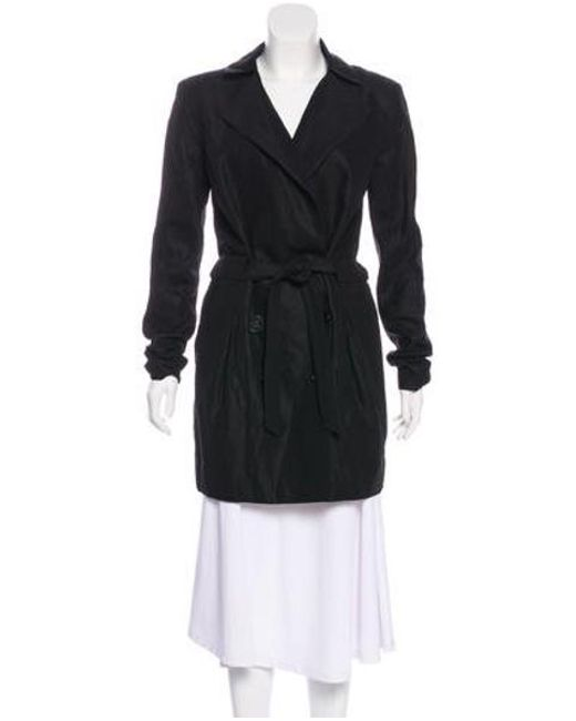 Theyskens' Theory - Black Tie-accented Short Coat - Lyst