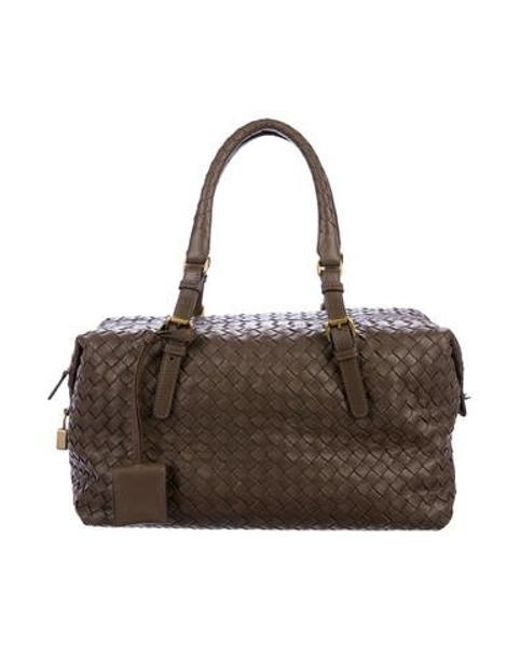 733c8170567e Bottega Veneta - Metallic Intrecciato Handle Bag W  Tags Gold - Lyst ...