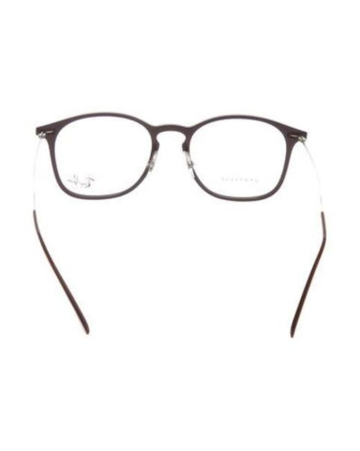 53a5dc4949 ... Ray-Ban - Natural Rectangle Light Ray Eyeglasses Plum for Men - Lyst ...