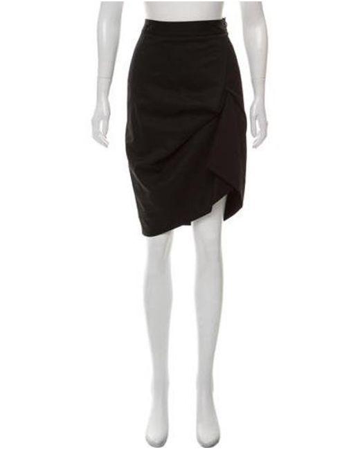 cd9b8bbb1b Vivienne Westwood Red Label - Black Wool Knee-length Skirt - Lyst ...
