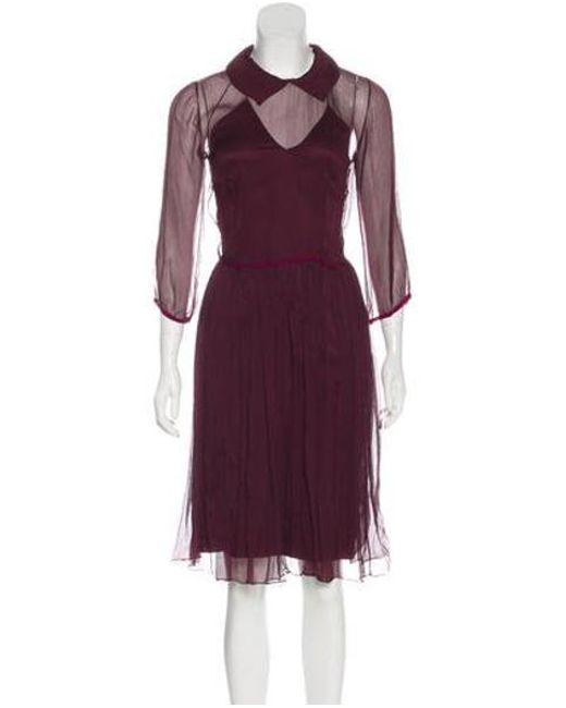 e12dd41559 sophie-theallet-Red-Sheer-Knee-length-Dress.jpeg