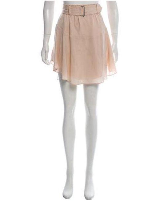 b771e8f36 A.L.C. - Pink Silk Pleated Mini Skirt - Lyst ...