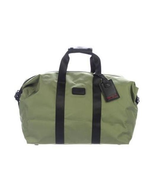 a274ff9abde Tumi - Black Leather-trimmed Nylon Bag for Men - Lyst ...