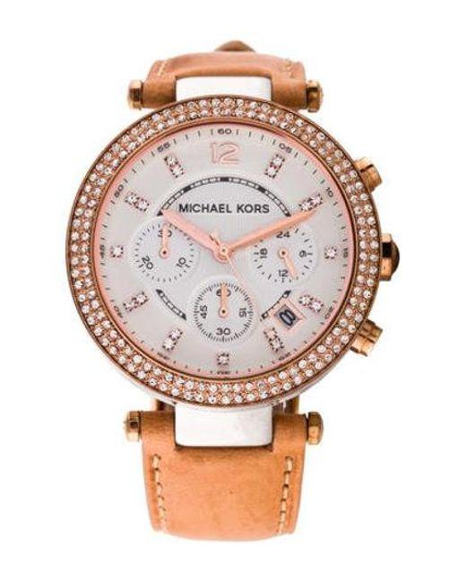 e7046c2e138b Michael Kors - Metallic Parker Watch - Lyst ...