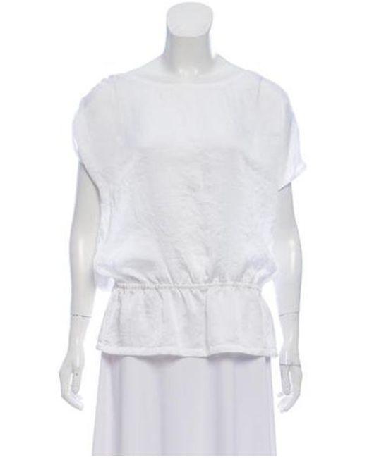 6c47835600f00 MICHAEL Michael Kors - White Michael Kors Short Sleeve Scoop Neck Blouse W   Tags ...