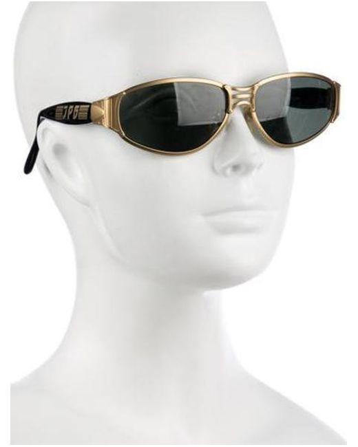 c003c0137d7 ... Jean Paul Gaultier - Metallic Oval Tinted Sunglasses Gold - Lyst