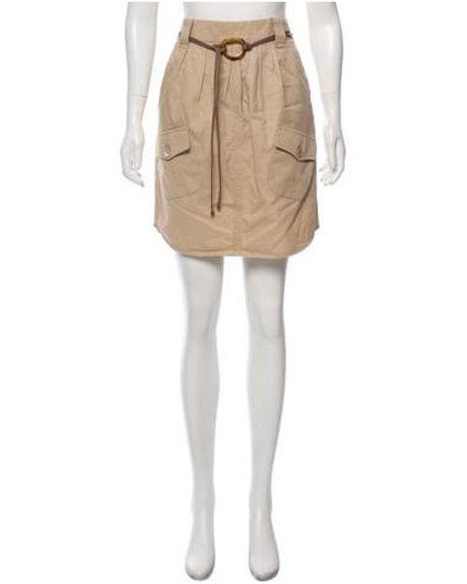 9c5105290 Brunello Cucinelli - Natural Woven Knee-length Skirt Tan - Lyst ...