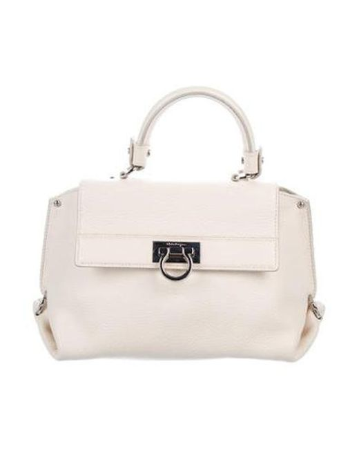 404d384ae72a Ferragamo - Metallic Leather Satchel Bag Silver - Lyst ...