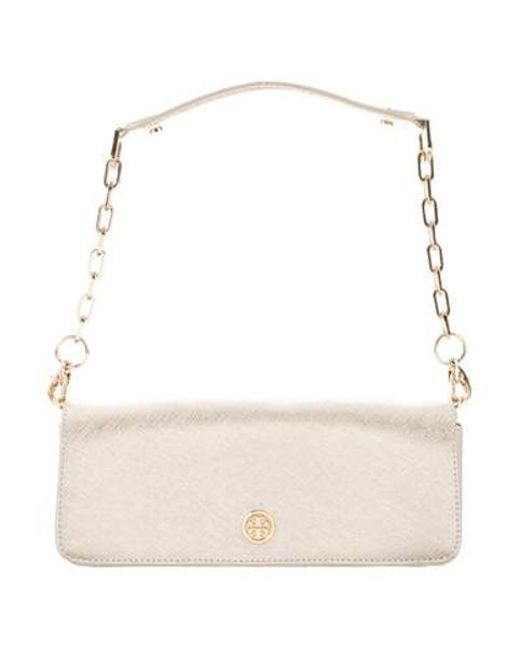 631040f96ef3 Tory Burch - Metallic Leather Shoulder Bag - Lyst ...