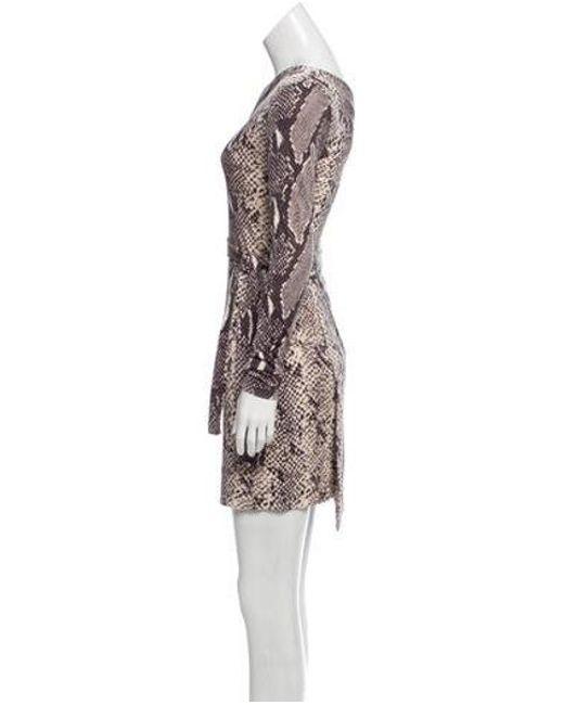 295daf5d3e61a ... Diane von Furstenberg - Silk One-shoulder Dress Multicolor - Lyst ...