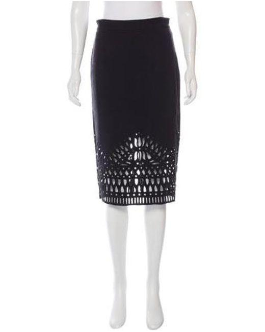 2ecc1c924a Sea - Black Eyelet Knee-length Skirt - Lyst ...