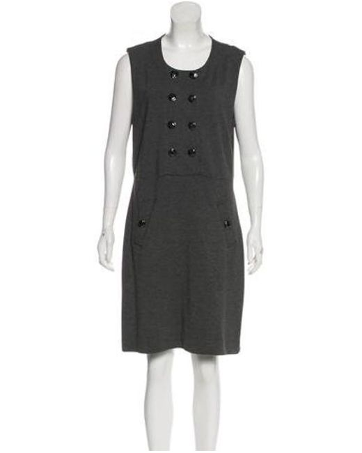 f3cd5dfd8b8d Tory Burch - Gray Casual Knee-length Dress Grey - Lyst ...