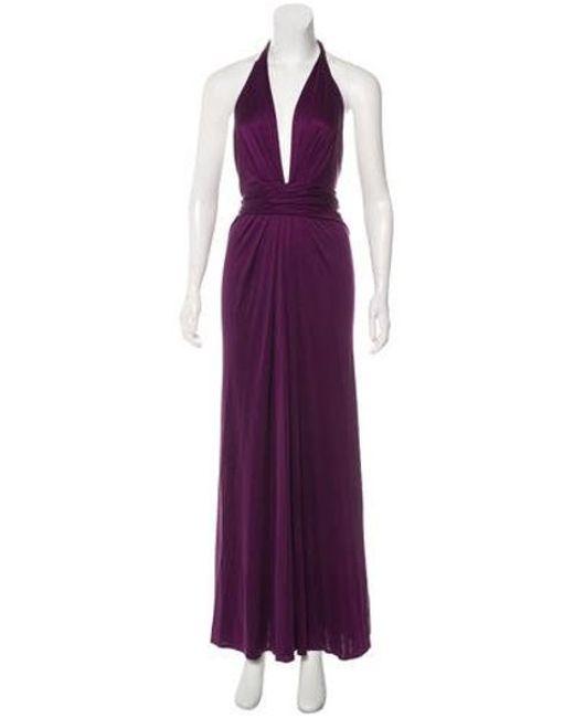 Issa - Purple Halter Maxi Dress - Lyst