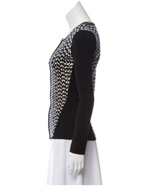 84a400698b ... Narciso Rodriguez - Black Zip-up Wool Sweater - Lyst ...