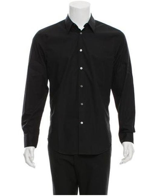 Acne - Black Chatwin Pop Woven Shirt for Men - Lyst
