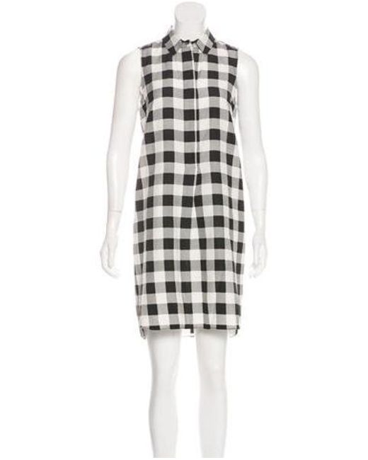 d9f30fe0df Lyst - Jenni Kayne Silk   Linen Gingham Dress in Black