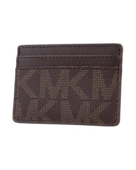 2f58a2c7985f2 ... Michael Kors - Natural Monogram Card Case Brown - Lyst ...