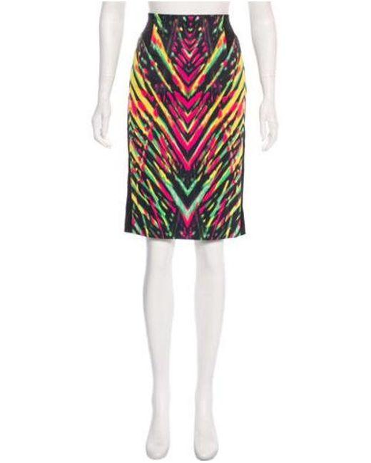 01150172f0e Karen Millen - Abstract Print Skirt Multicolor - Lyst ...