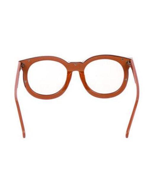 94d653795788 ... Karen Walker - Metallic Super Duper Thistle Sunglasses Gold - Lyst ...