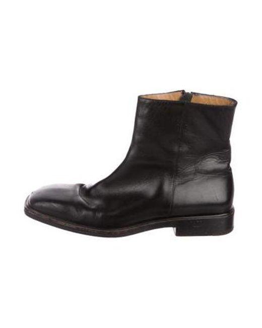 5d15d5e36398 Louis Vuitton - Black Leather Ankle Boots for Men - Lyst ...