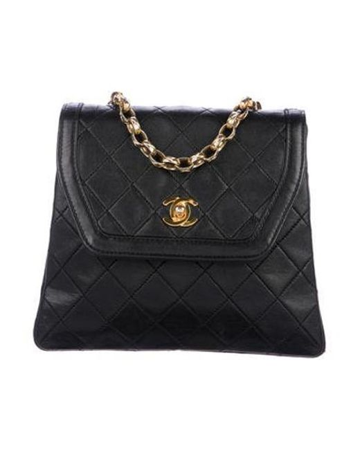 a15c4c6f3724 Chanel - Metallic Vintage Lambskin Flap Bag Black - Lyst ...