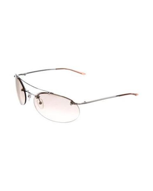 9a2a915a772 ... Dior - Brown Oval Mirrored Sunglasses - Lyst ...