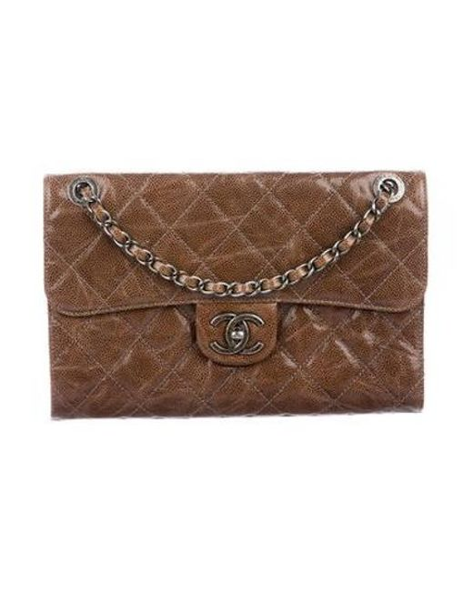 8e592e43b657 Chanel - Brown Citizen Zip Small Flap Bag - Lyst ...