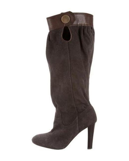 695fa8aa29086 MICHAEL Michael Kors - Gray Michael Kors Suede Knee-high Boots - Lyst ...