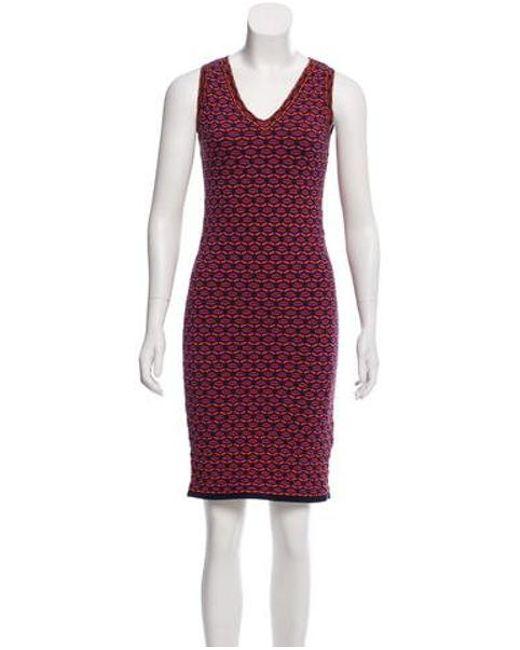 c0261ec19aa1 M Missoni - Purple Sleeveless Mini Dress - Lyst ...