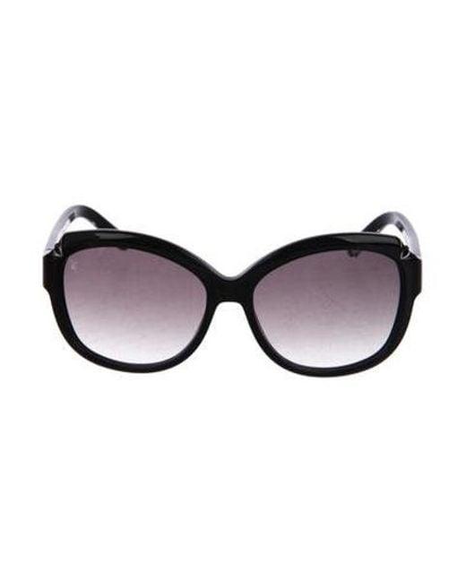 597776a540b Louis Vuitton - Black Glitter Hortensia Sunglasses - Lyst ...