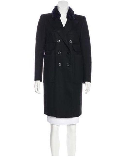 Carven - Black Knee-length Wool Coat - Lyst