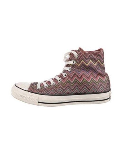 348454fcbe67f ... czech converse purple lace up high top sneakers violet lyst 5e1c4 8b6c8
