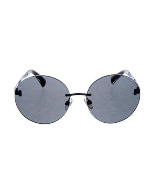 1dbea855727 Chanel - Metallic Round Quilting Sunglasses - Lyst ...