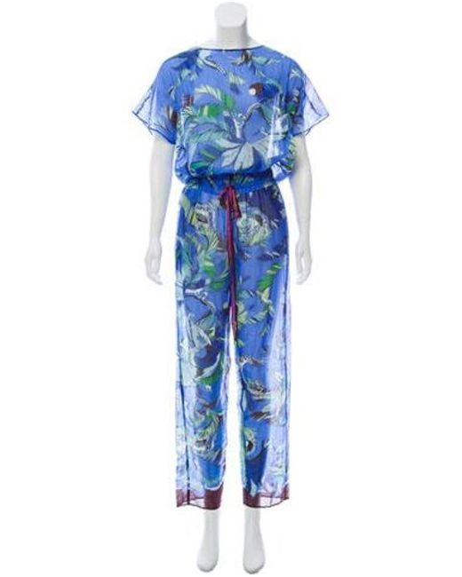 5c9774c78e98 Emilio Pucci - Blue Printed Jumpsuit W tags W  Tags - Lyst ...