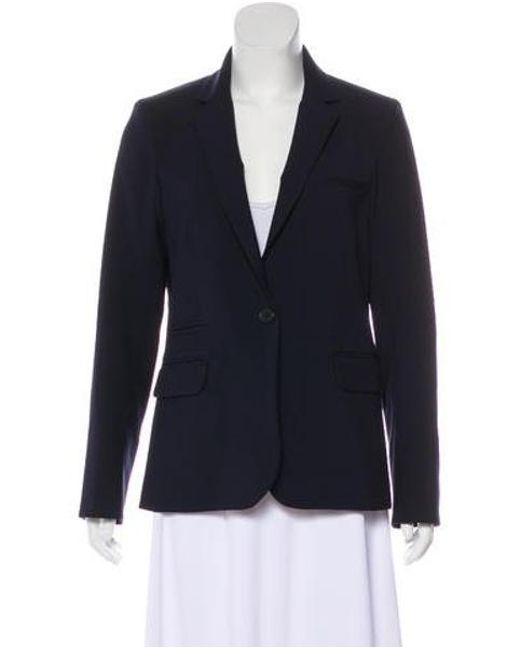 Veronica Beard - Blue Virgin Wool Blazer Navy - Lyst