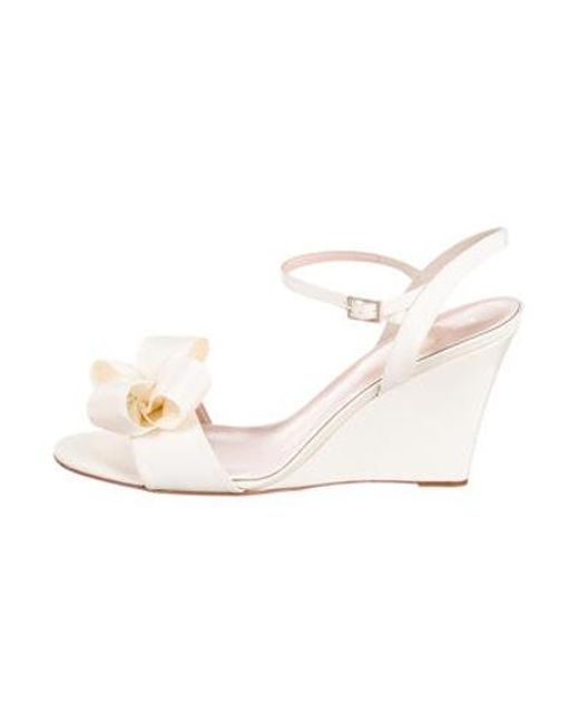 48be17ff4546 Kate Spade - White Iballa Wedge Sandals W  Tags - Lyst ...