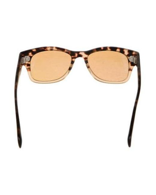 1ee400b84dff ... Oliver Peoples - Metallic Jannsson Sun Tortoiseshell Sunglasses Brown -  Lyst ...