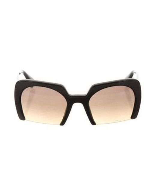 bad7e916f92 Miu Miu - Black Miu Square Gradient Sunglasses - Lyst ...