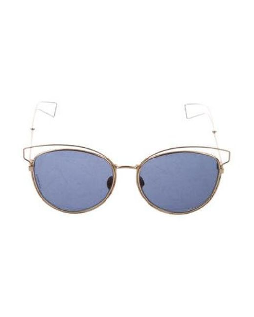 2a6e56178d Dior - Metallic Sideral 2 Tinted Sunglasses Gold - Lyst ...