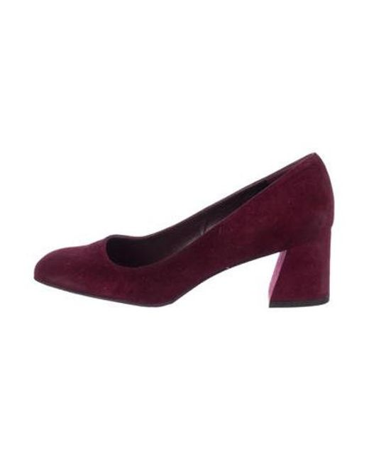 7307f6be28e Lyst - Stuart Weitzman Marymid Suede Pumps Burgundy in Red - Save ...