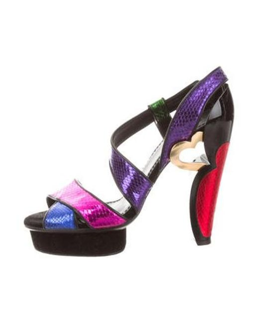 1f899006cf6 Marc Jacobs - Metallic Platform Sandals - Lyst ...