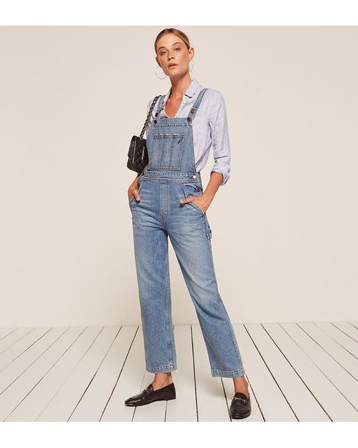 Reformation | Blue Johnny Overalls | Lyst