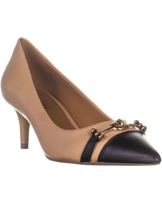 762ac4d7d4f COACH - Black Lauri Pointed Toe Kitten Heel Pumps - Lyst ...