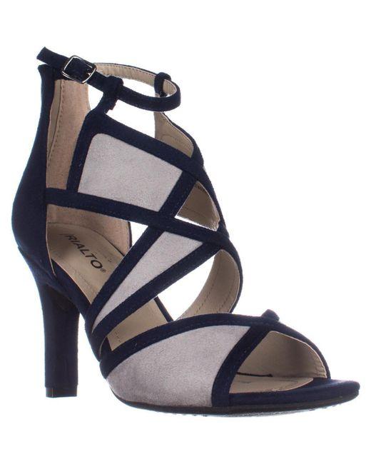 Rialto | Blue Ria Strappy Dress Heel Sandals | Lyst